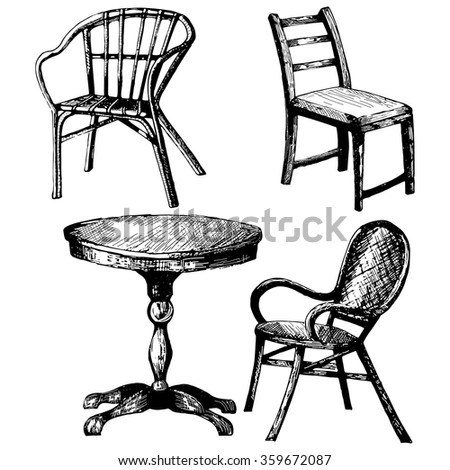 Chair Sketch sketch chair stock images, royalty-free images & vectors