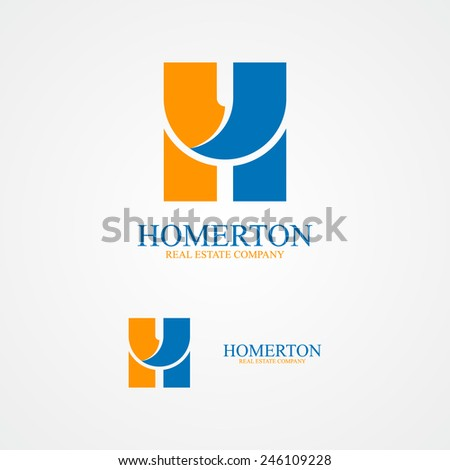 Set of letter H logo for design template elements.  - stock vector