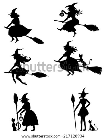 Halloween Witch Stock Images, Royalty-Free Images & Vectors ...