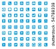 64 set presentation buttons icons symbol web eco. vector - stock vector