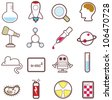 16 sets of cute science icons - stock vector