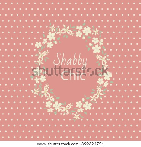 shabby chic,  Elegant vintage background. For a wedding or a holiday with space for text. Delicate flowers on a pink background - stock vector