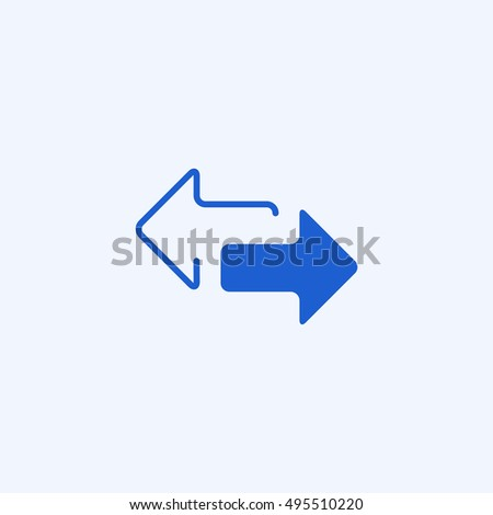 2 Side Arrow Icon Isolated White Stock Vector 495510220 Shutterstock
