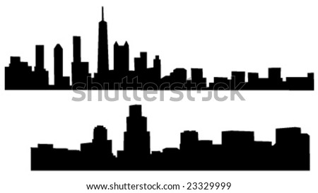 2 skylines of chicago illinois