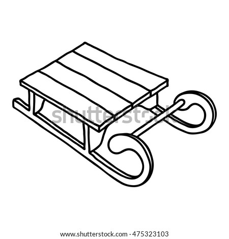 Vintage sled stock images royalty free images vectors for Sled coloring page
