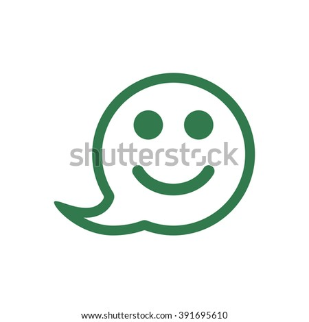 Smile icon, vector illustration. Flat design style