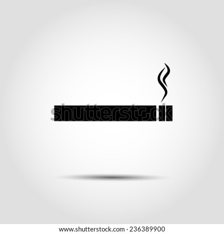 smoking icon Vector EPS 10 illustration. - stock vector