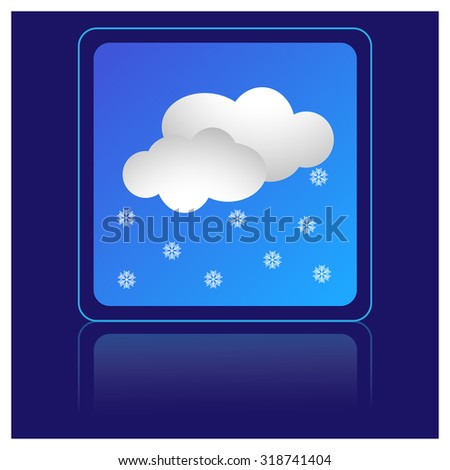 snow and cloud, weather icon - stock vector