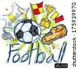 soccer football elements - stock