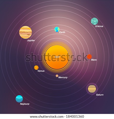 Solar system infographic eps10. - stock vector
