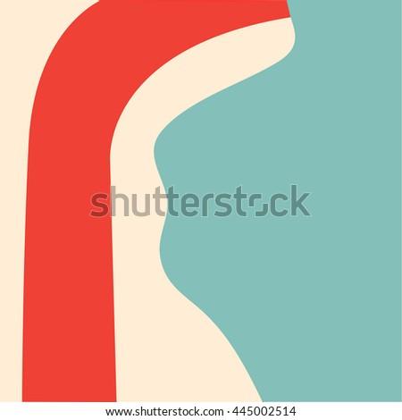 Sore Throat and Other Throat Problem,(sore throat flu disease) ,Vector illustration - stock vector