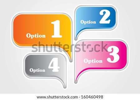 4 Speech Bubble elements. Useful for tutorials or presentations. - stock vector