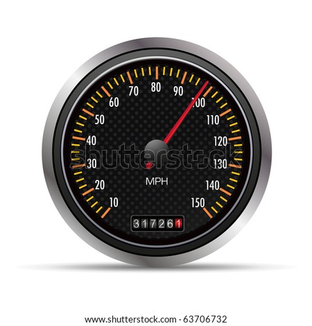 09 Speedometer Professional vector illustration for your website, application, or presentation. The graphic can easily be edited colored individually and be scaled to any size - stock vector