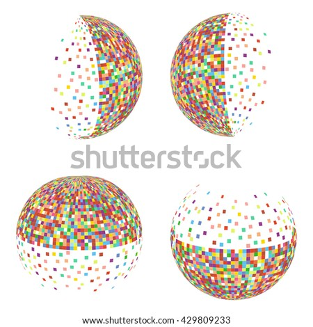 Sphere . The mosaic pattern . Logos . Vector