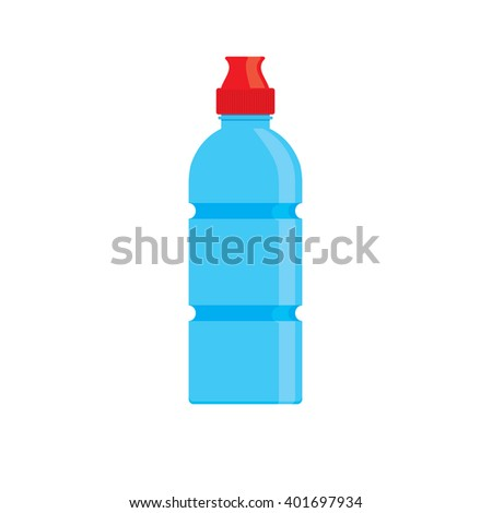 Sport bottle. Bottle of water. Icon bottle of water in flat style. Vector illustration. - stock vector