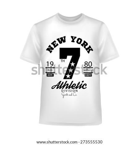 Sport emblem in retro style. Trendy graphic design for t-shirt.  - stock vector
