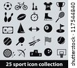 25 sport icon collection - stock vector