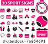 30 sport icons, signs, vector illustrations - stock vector