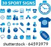 30 sport signs. vector - stock vector
