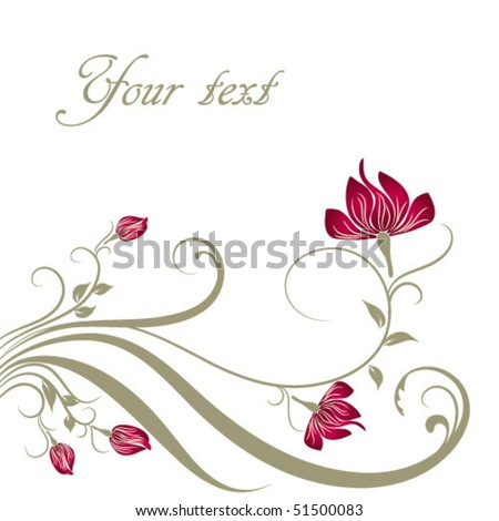 spring floral background with place for your text