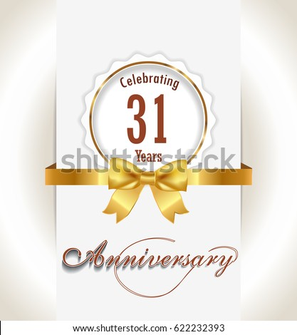 31 Anniversary Stock Images Royalty Free Images Amp Vectors