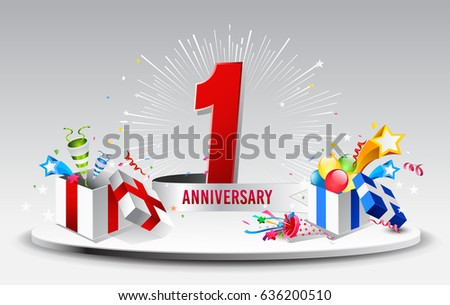 St anniversary celebration background stock vector stock photo