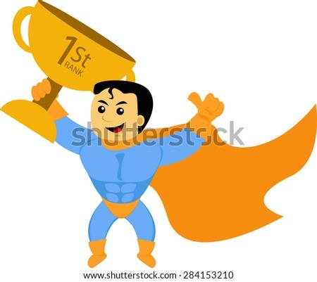 1st Champion - stock vector