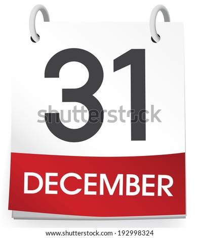 31st of December. - stock vector
