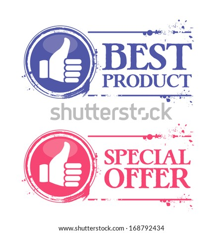 Stamp best product - stock vector