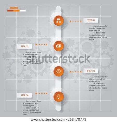 Steps Abstract Timeline Templategraphic Website Stock Vector - Timeline website template