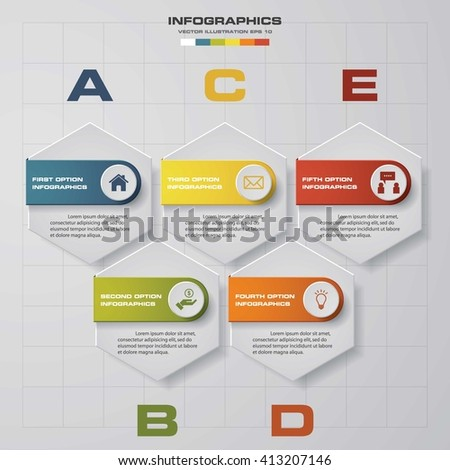 Steps Chart Layout Sample Textdata Stock Vector
