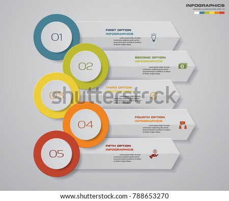 Steps Infographics Element Chart Presentation Stock Vector Hd