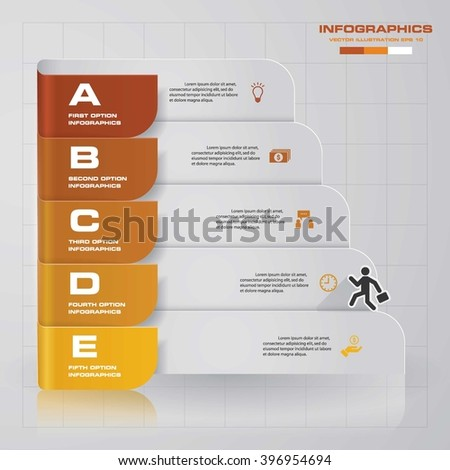5 steps presentation template/graphic or website layout. Vector.EPS10. - stock vector