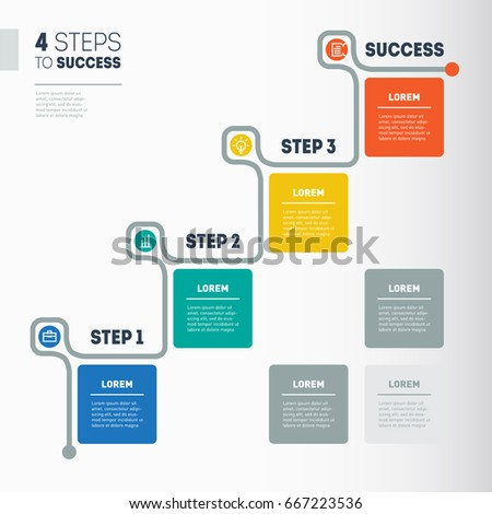 Steps Success Business Timeline Info Stock Vector - Timeline graphic template