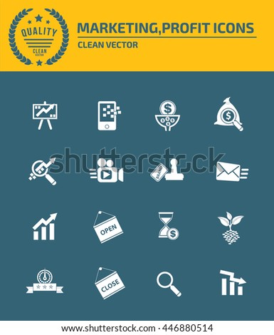 Strategy icon set,vector