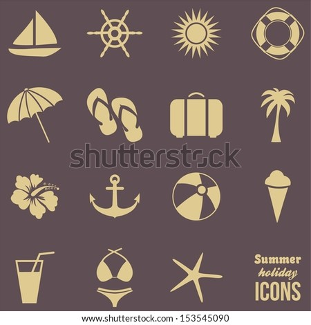 Summer Icons .Vector