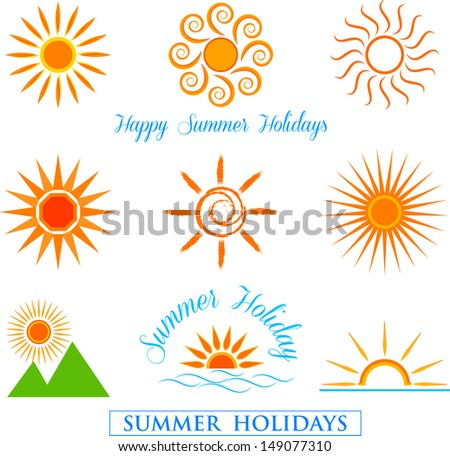 Sun set - stock vector