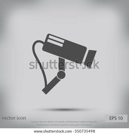Surveillance Camera  CCTV icon. - stock vector