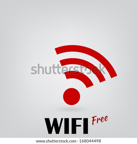 Symbol Free WIFI - stock vector