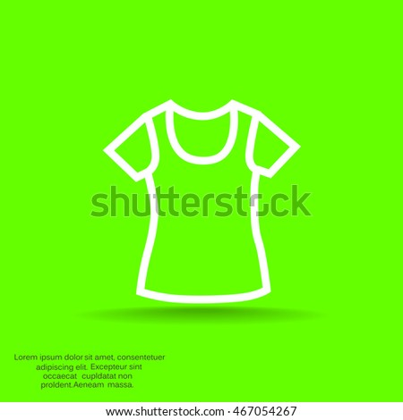 T-shirt Icon Vector.