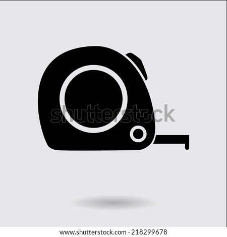 Tape measure icon. Roulette construction  simbol. - stock vector