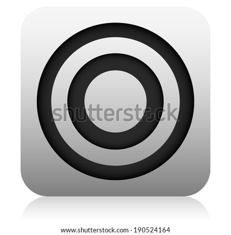 """"""" Target , aim, success , goal """" graphic - App style icon - stock vector"""