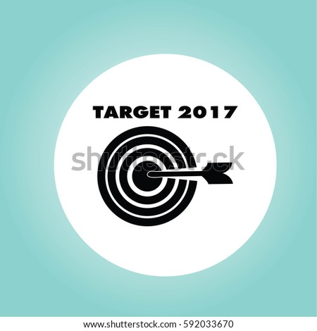 2017 target icon. successful shot in the darts target.vector illustration.