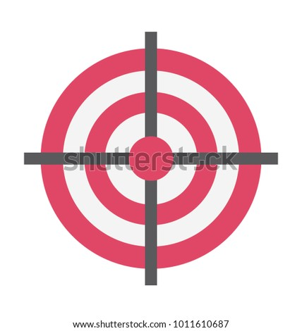 Target Vector Illustration Icon