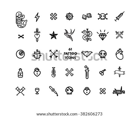 Simple tattoo designs stock images royalty free images for Minimal art tattoo
