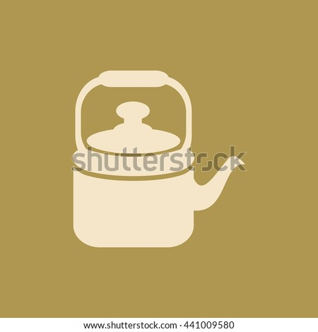 Tea Kettle & Cup Icon. Eps-10. - stock vector