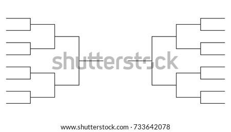 16 team tournament bracket templates stock vector royalty free