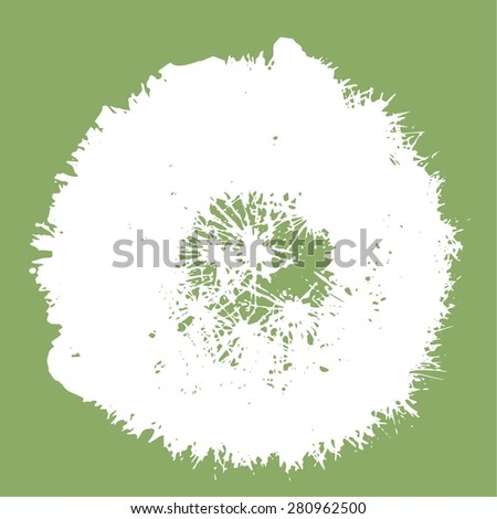 texture of fluffy dandelion for background - stock vector