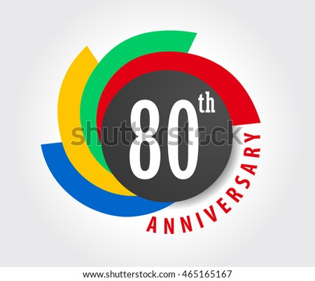 80th Anniversary celebration background, 80 years anniversary card illustration - vector eps10