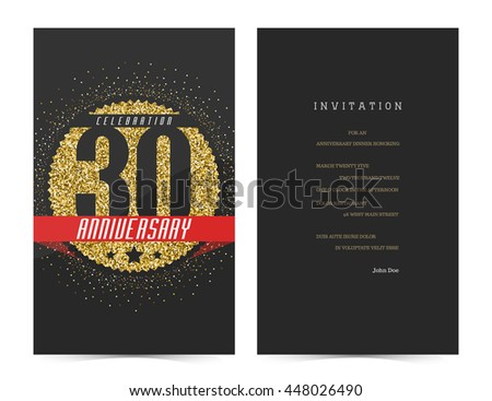 Th anniversary illustration free vector download cannypic